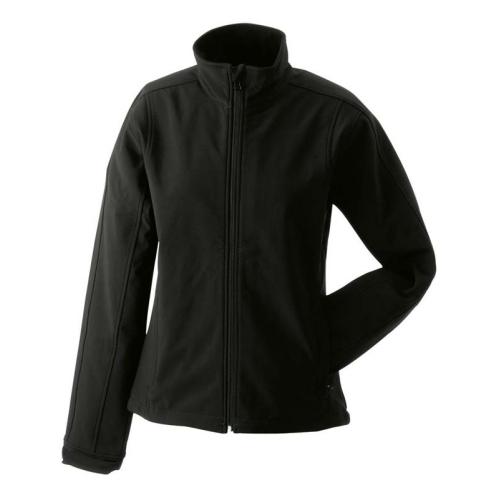 JAMES & NICHOLSON JN137 ladies softshell jacket, transition jacket, black, size. S.