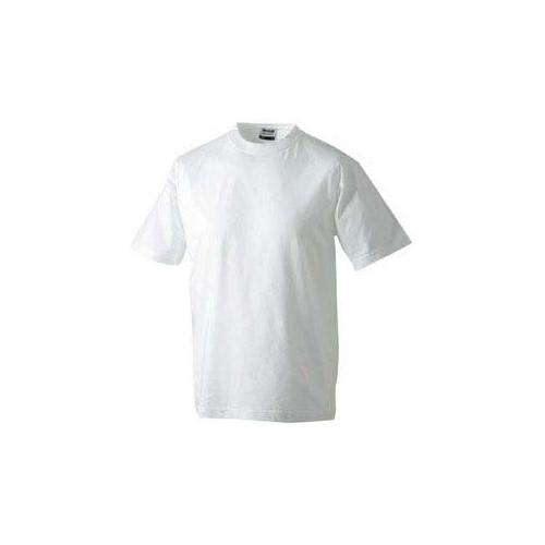JAMES & NICHOLSON JN002 Herren Komfort T-Shirt, weiss, Größe XXXL