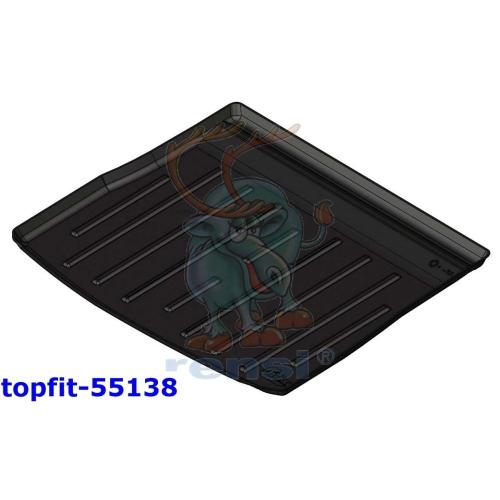 RENSI 55138 Kofferraumschalenmatte erhöhter Ladeboden Gewicht 1000 g
