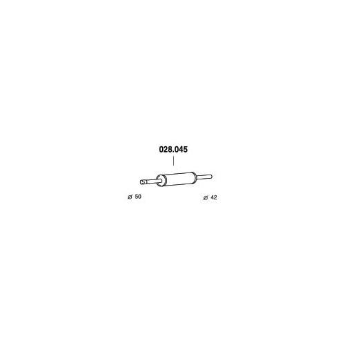 PEDOL 028.045 center silencer