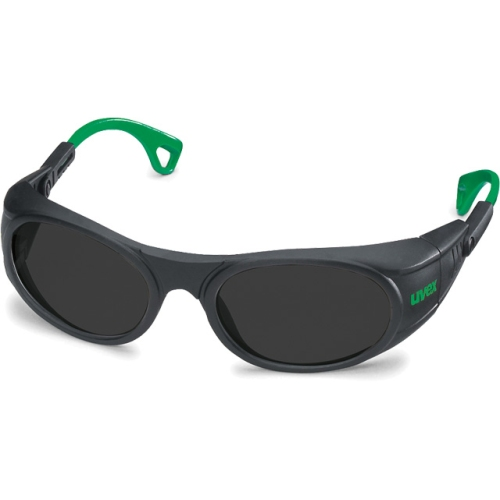 UVEX 9116.046 Safety glasses, PC gray lens, protection 6, black / green