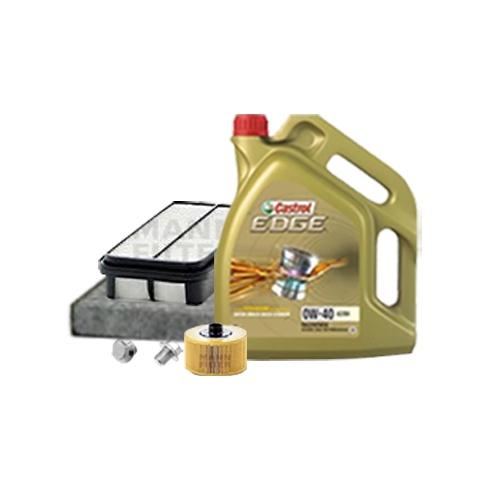 Inspektionskit Ölfilter, Luftfilter und Innenraumfilter + Motoröl 0W-40 5L