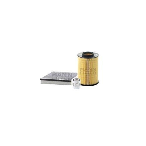 MANN-FILTER oil filter, air filter and activated carbon cabin air filter VSF0358MAN