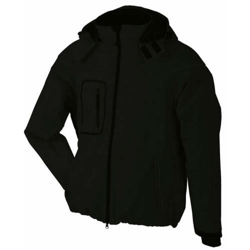 JAMES & NICHOLSON JN1000 men's winter softshell jacket, black, size XXXL