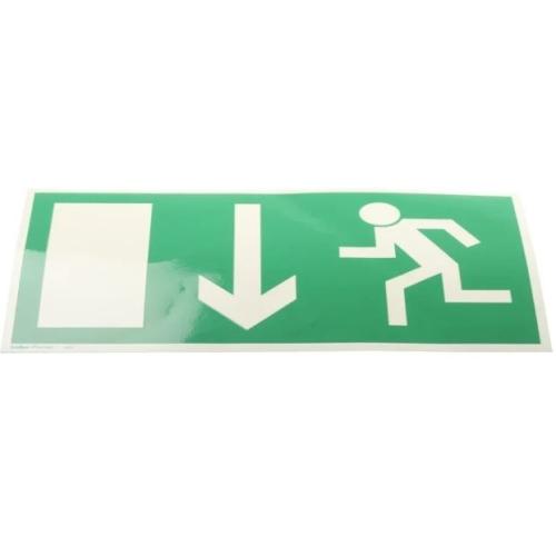 Sign Safety Notausgangsschild, Klebefolie Grün/Weiß, 300 x 150mm 38.0014