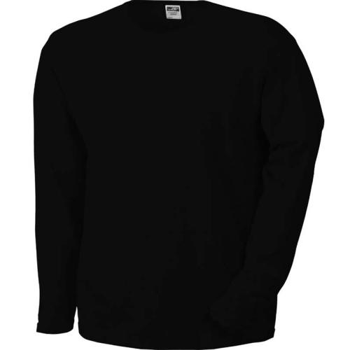 JAMES & NICHOLSON JN913 men's long-sleeved shirt, black, size S