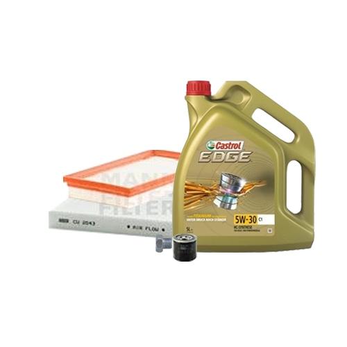 Inspektionskit Ölfilter, Luftfilter und Innenraumfilter + Motoröl 5W-30 C1 5L