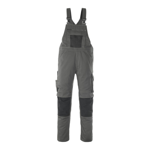 Mascot Dungarees with knee pockets 12069-203-1809 82C50 dark gray / black