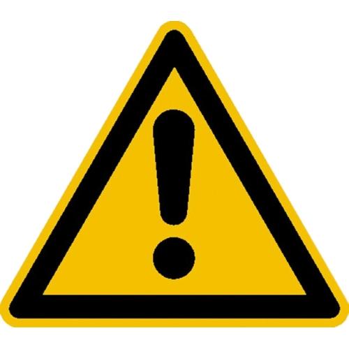 """SIGN SAFETY 21.0196 Warnschild """"Allgemeines Warnzeichen"""" (Gefahrenstelle), Folie"""