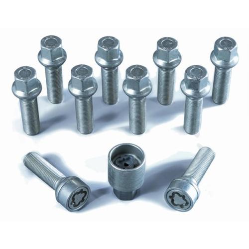 H&R Felgenschloss Satz 1454203SET, M14x1,5mmx42mm, Kugelbund beweglich, R13