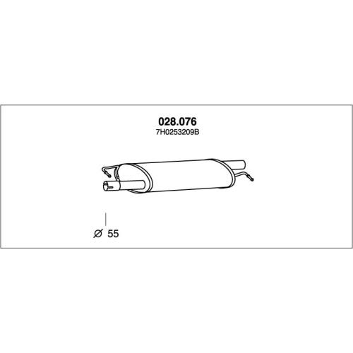 PEDOL 028.076 center silencer