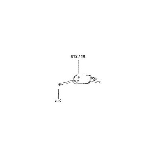 PEDOL 012.118 rear silencer