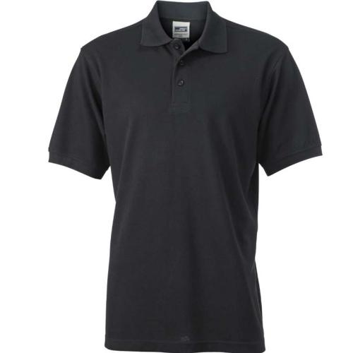 JAMES & NICHOLSON JN830 men's polo shirt, black, size XXXL
