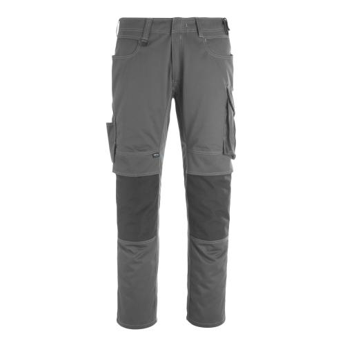 Mascot pants with knee pockets 12179-203-1809 82C62 dark gray / black