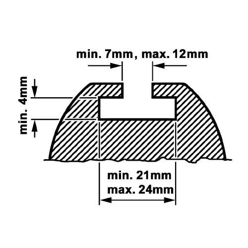 KAMEI 0 52003 10 Ergänzungssatz Profiltyp A, M6-Schiebeadapter, 20mm Nutenprofil