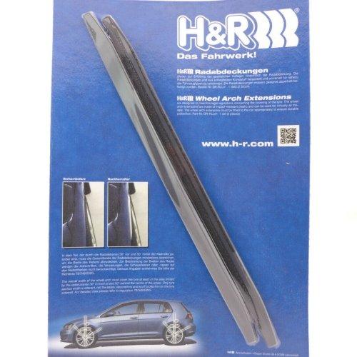 H&R Radabdeckung, Kotflügelverbreiterung, DR-RLL01, 7mm, schwarz 2. Stück