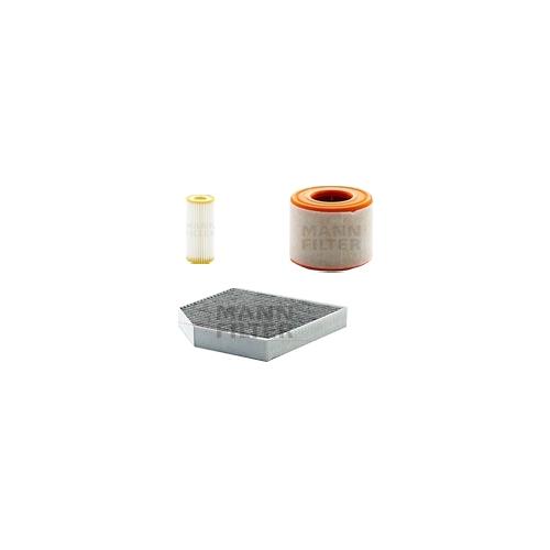 MANN-FILTER Filter Satz, Öl, Luft- und Innenraum- Aktivkohle Filter VSF0057MAN