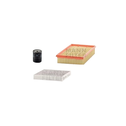 MANN-FILTER Filter Satz, Öl, Luft- und Innenraum- Aktivkohle Filter VSF0043MAN