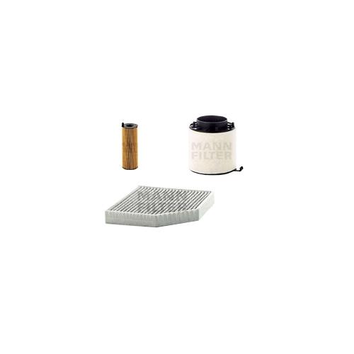 MANN-FILTER Filter Satz, Öl, Luft- und Innenraum- Aktivkohle Filter VSF0060MAN