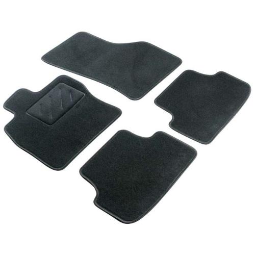 WALSER 80265 Fußmattensatz, Teppich Passform Standard, anthrazit/schwarz
