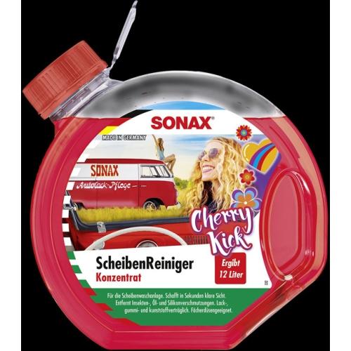 SONAX 03992441, Scheibenreiniger Konzentrat Cherry Kick, Inhalt 3 l
