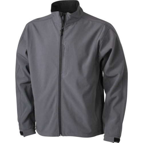 JAMES & NICHOLSON JN135 men's softshell jacket, transition jacket, carbon, size. M.