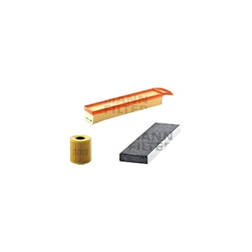 MANN-FILTER Filter Satz, Öl, Luft- und Innenraum- Aktivkohle Filter VSF0049MAN