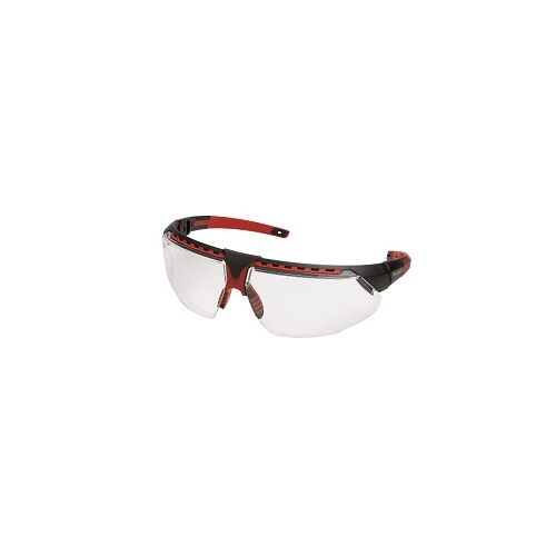 HONEYWELL safety goggles Avatar, frame black / red, clear 1034836