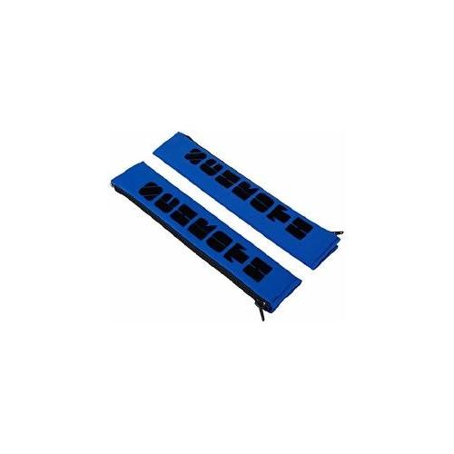 """Schroth Safety 2 pieces 2 """"50mm Beltpad with Flock, blue Gurtschoner 01109"""