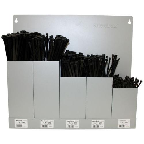 Wandhalter m. Kabelbänder schwarz 500 Stk. sortiert 5-Fach 4499/000/06 8616