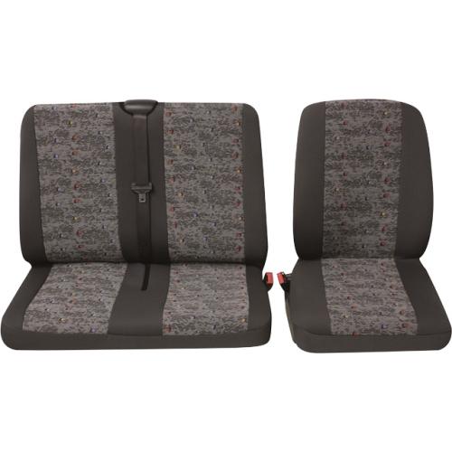 PETEX 30071918 Sitzbezugset Profi 3, 1 Einzelsitz, 1 Doppelsitz, grau