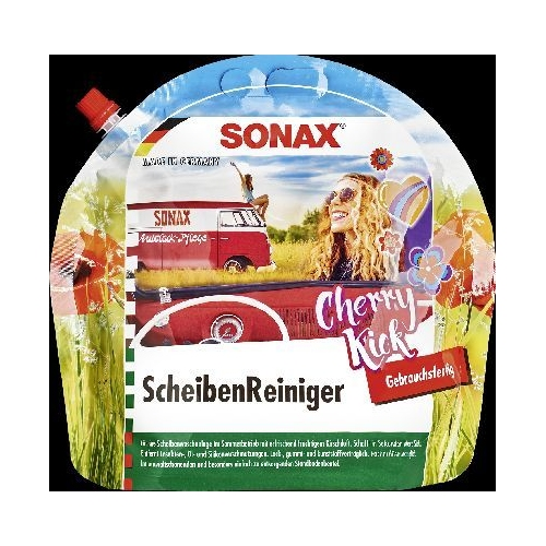 SONAX windscreen cleaner ready-to-use Cherry Kick 3 liters 0392441