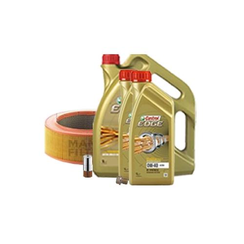 Inspektionskit Ölfilter, Luftfilter und Ablassschraube + Motoröl 0W-40 7L