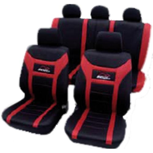 PETEX 22974812 Sitzbezugset Super Speed, für Seitenairbag, rot, 11-teilig