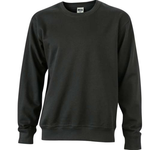 JAMES & NICHOLSON JN840 sweatshirt, pullover, black, size XL