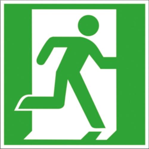 """SIGN SAFETY 38.0029 Kennzeichnung Fluchtwege """"Rettungsweg/Notausgang rechts"""""""