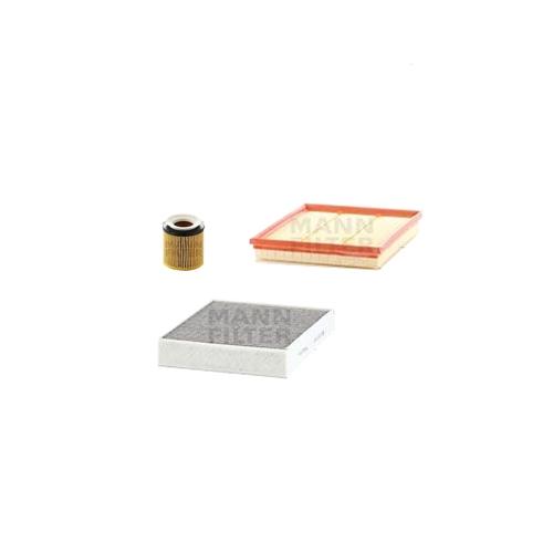 MANN-FILTER Filter Satz, Öl, Luft- und Innenraum- Aktivkohle Filter VSF0020MAN
