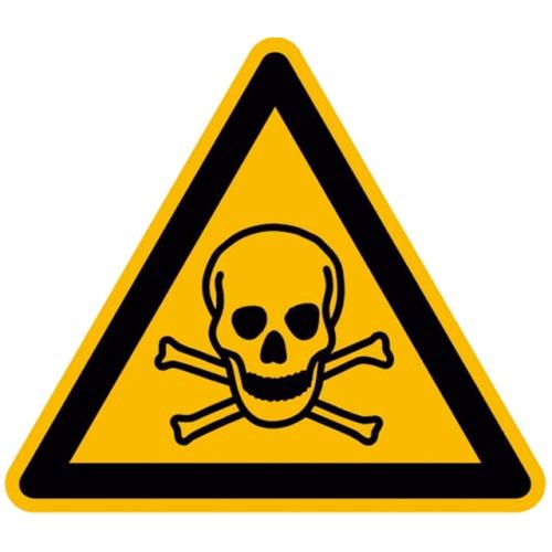 """SIGN SAFETY 21.0163 Warnschild """"Warnung giftige Stoffe"""", Folie"""