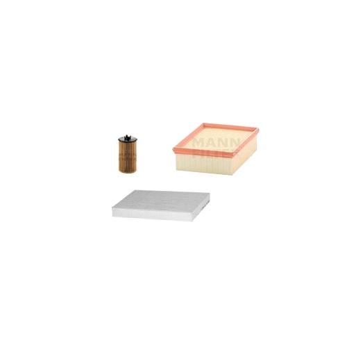 MANN-FILTER Filter Satz, Öl, Luft- und Innenraum- Aktivkohle Filter VSF0071MAN