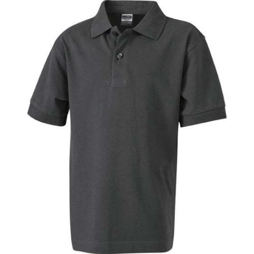 JAMES & NICHOLSON JN070 men's polo shirt, graphite, size M
