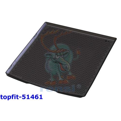 RENSI 51461 Kofferraumschalenmatte Gewicht 1650 g