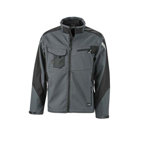 JAMES & NICHOLSON JN844 softshell jacket, work jacket, carbon / black, size Xl