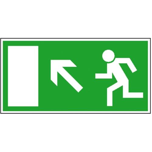 "SIGN SAFETY 15.0017 Fluchtwegschild ""Rettungsweg/Notausgang links aufwärts"""
