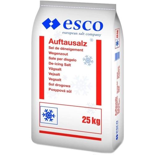 ESCO - EUROPEAN SALT road salt, road salt, coarse 25kg 51395