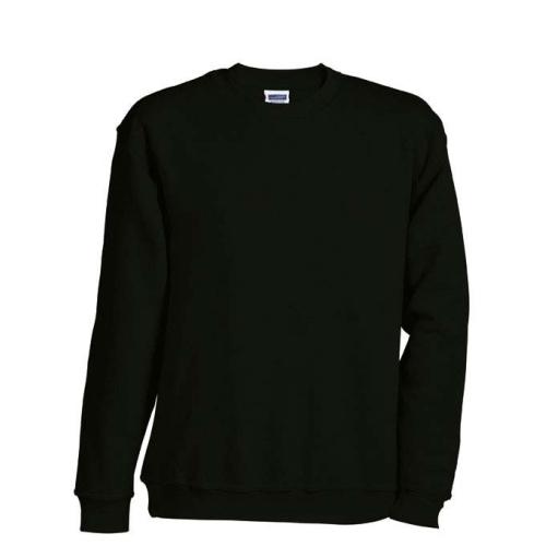 JAMES & NICHOLSON JN040 Sweatshirt, round neck sweater, black, size M