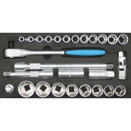 SWSTAHL Werkzeugeinlage, 27-teilig Z2533-6