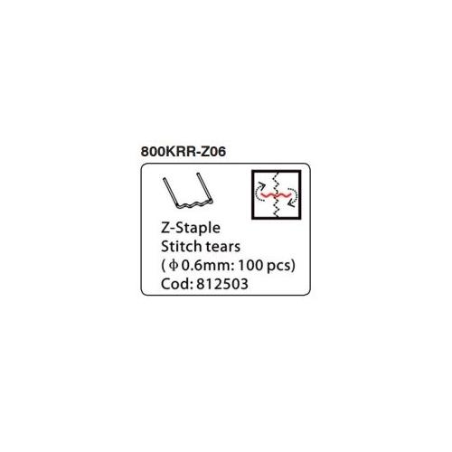 Kunzer Flächenklammern Z-Klammer 0,6 mm 100 Stück 800KRR-Z06