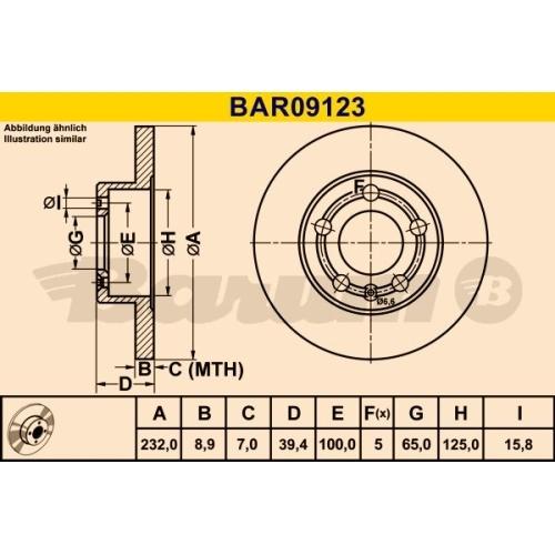 BARUM Brake Disc BAR09123