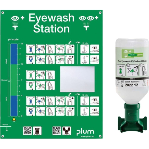 PLUM 4611 eye wash station incl. 1 bottle