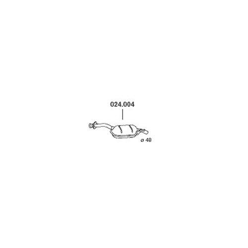 PEDOL 024.004 center silencer